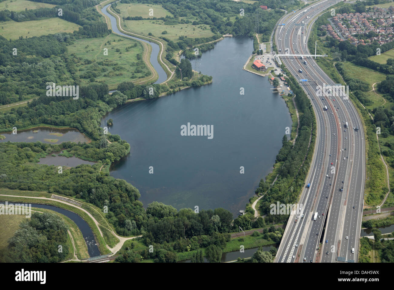 M60 For Sale >> aerial view of Sale Water Park, Manchester Stock Photo, Royalty Free Image: 58155494 - Alamy