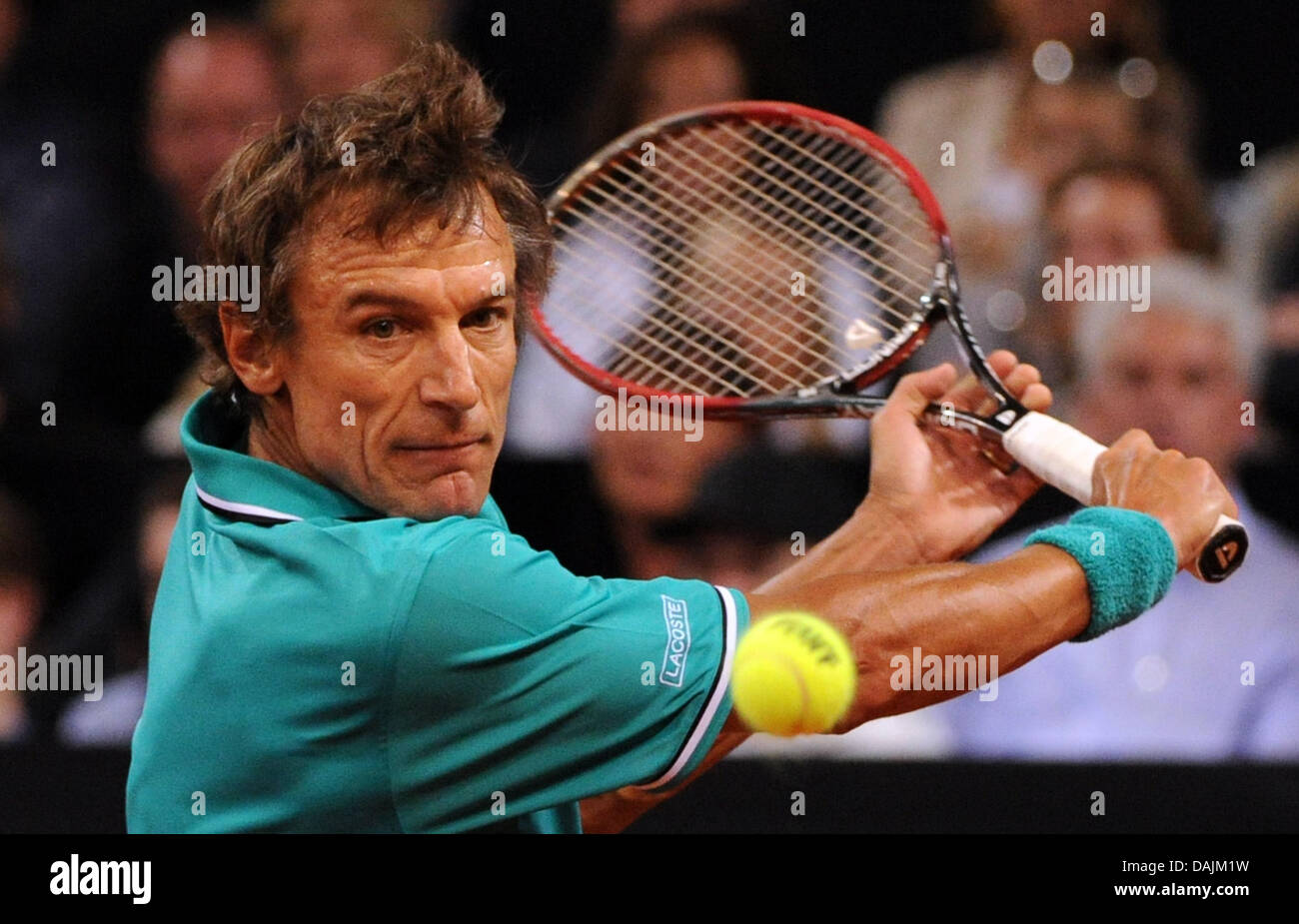The former professional tennis player Mats Wilander plays a