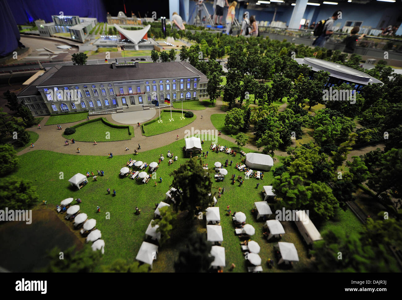 A Miniature Model Of Bellevue Castle Is Presented At The Miniature World  U0027LOXX At Alexu0027 In Berlin, Germany, 26 April 2011. Left To It The House Of  World ...