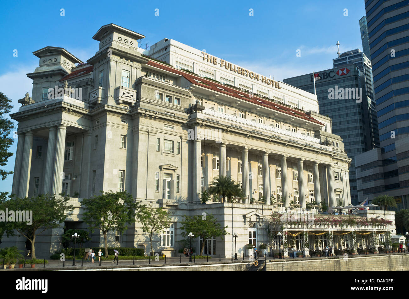 Dh fullerton building downtown core singapore the fullerton hotel building hotels stock photo