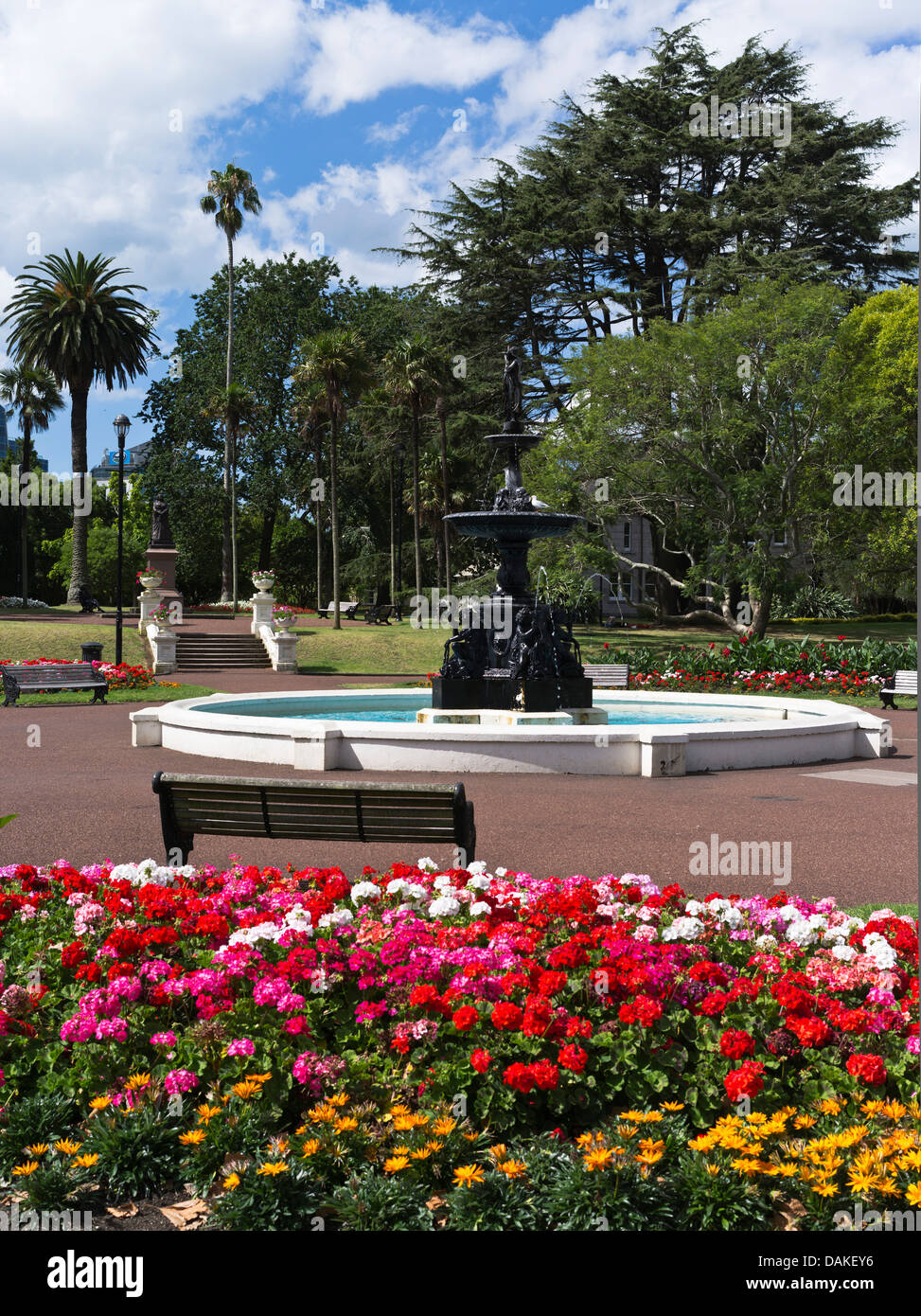 Water fountains outdoor new zealand -  Dh Albert Park Auckland New Zealand Fountain Pool Flower Garden Stock Photo