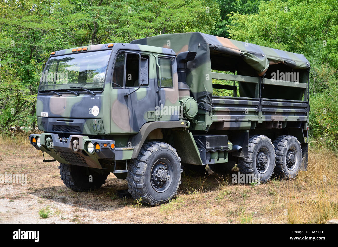 Military Personnel Carrier 2 1 2 Ton Truck In Camouflage