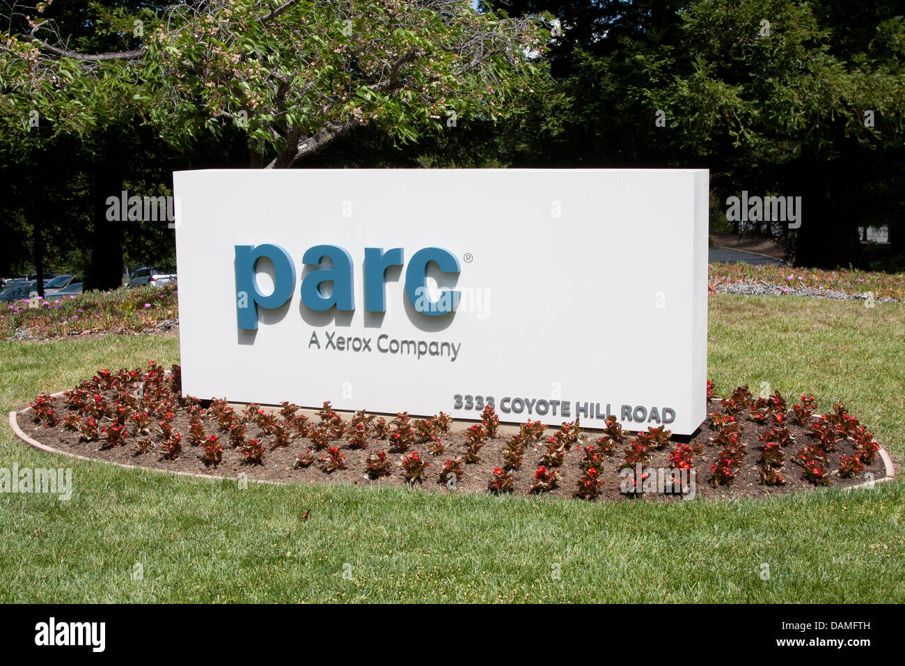 Stock Photo The Sign Points To The Legendary Californian Research Center  Xerox Parc In Palo Alto
