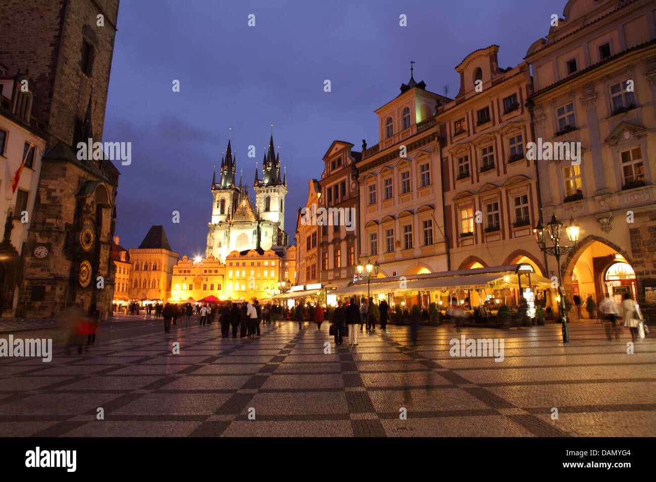 Prague city centre night center stock photo royalty free for Central prague