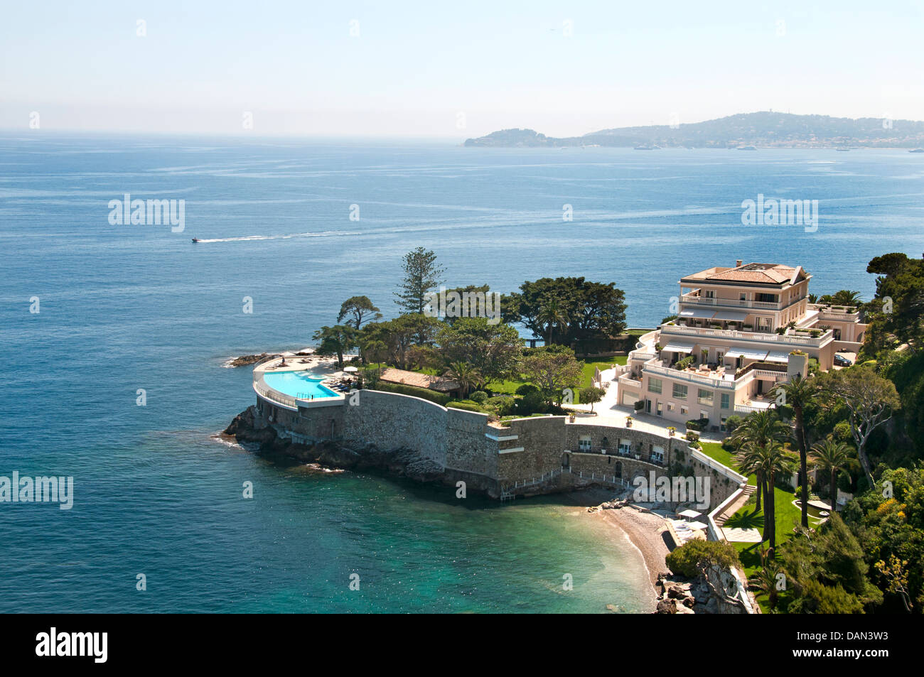 hotel cap estel in eze bord de mer is a luxury hotel with spa on the stock photo royalty free. Black Bedroom Furniture Sets. Home Design Ideas