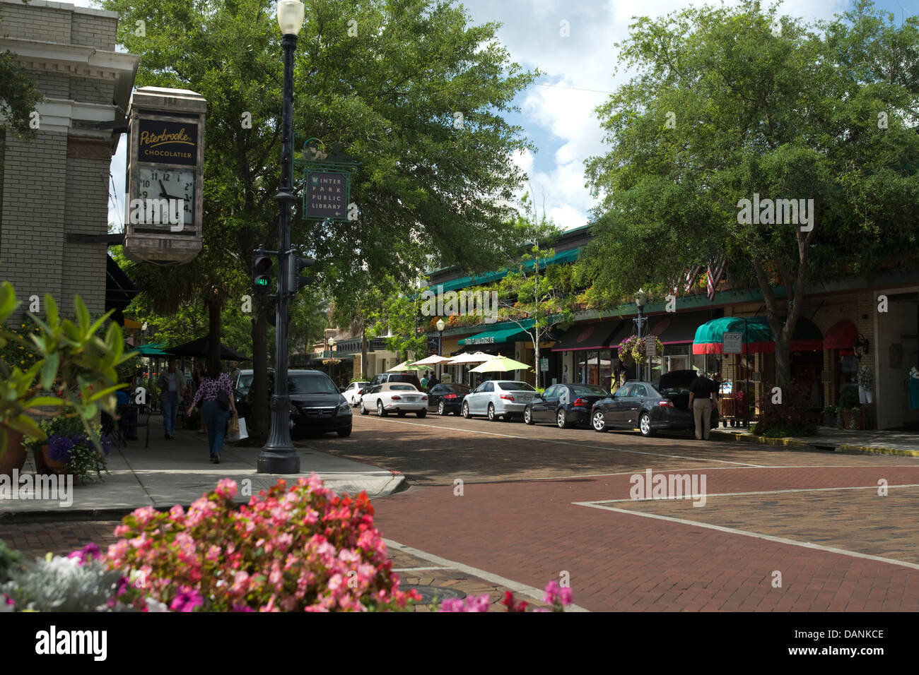 South Park Avenue Winter Park Orlando Florida Usa Stock Photo Royalty Free Image 58253902 Alamy