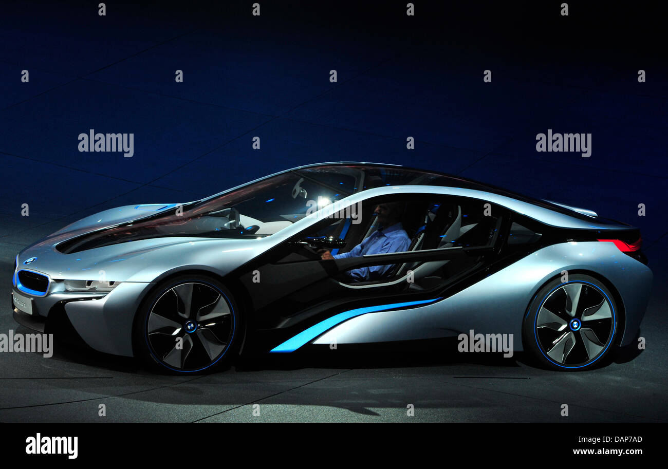A BMW I8 Stands On Stage During The Presentation Of The BMW Electric  Vehicles I3 And I8 In Frankfurt/Main, Germany, 29 July 2011.