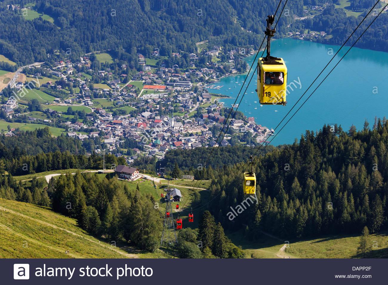 Austria salzkammergut zwolferhorn cable car at st gilgen stock austria salzkammergut zwolferhorn cable car at st gilgen sciox Images