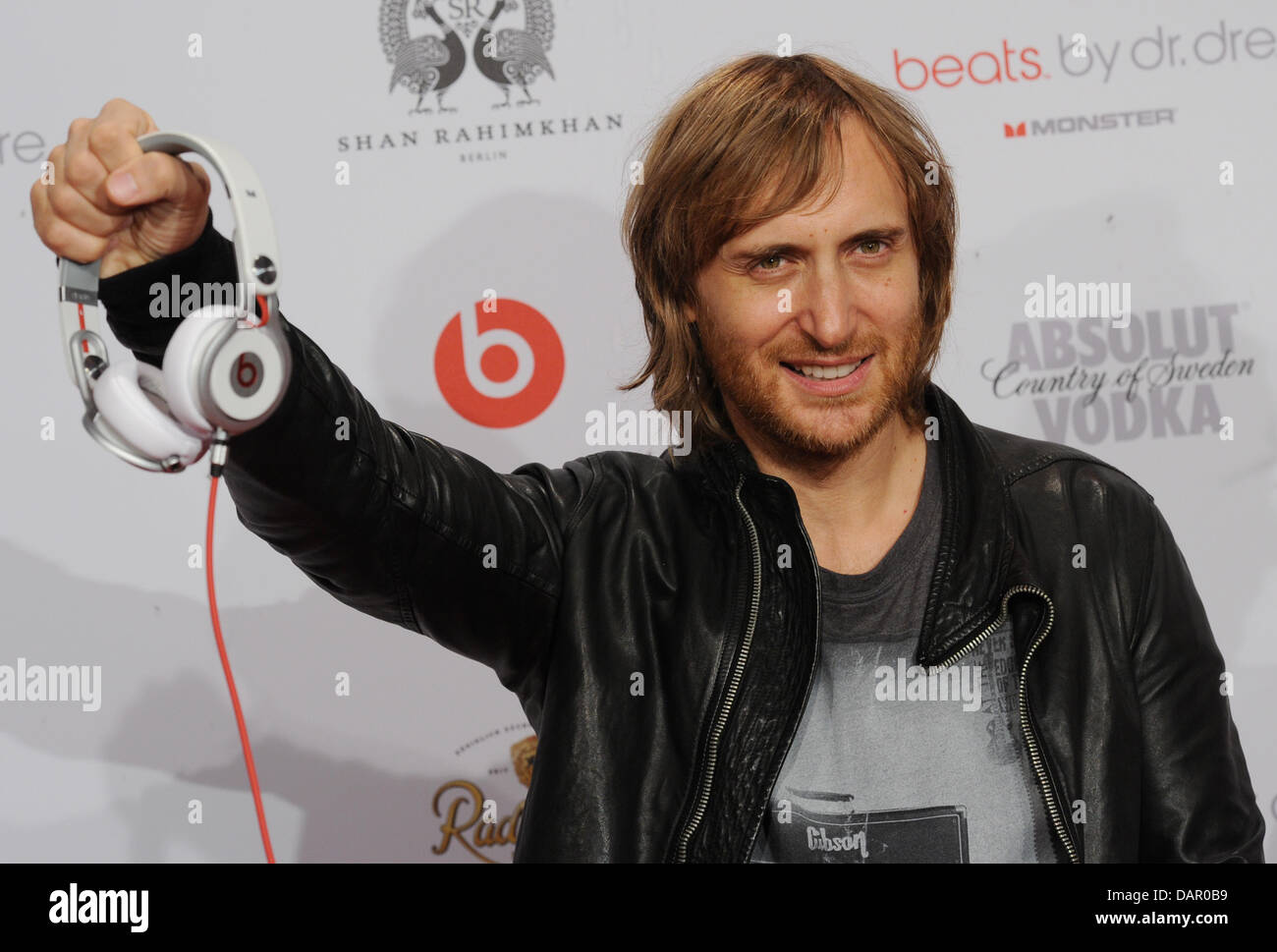 French house dj and music producer david guetta arrives at the event ibiza to berlin at the spindler klatt club in berlin germany 06 september 2011