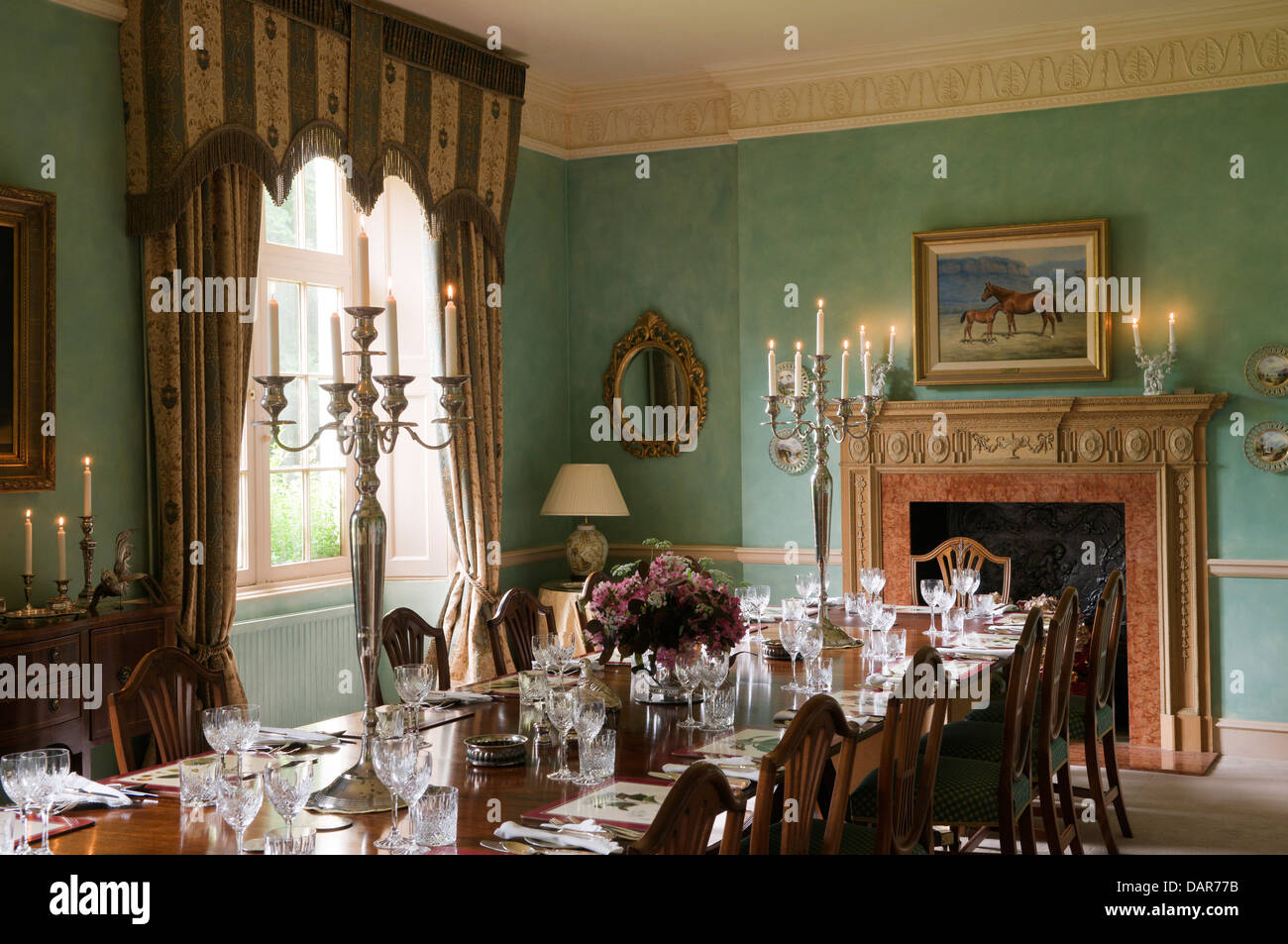 Dining Room In English 17th Century Manor House, Ampney Park