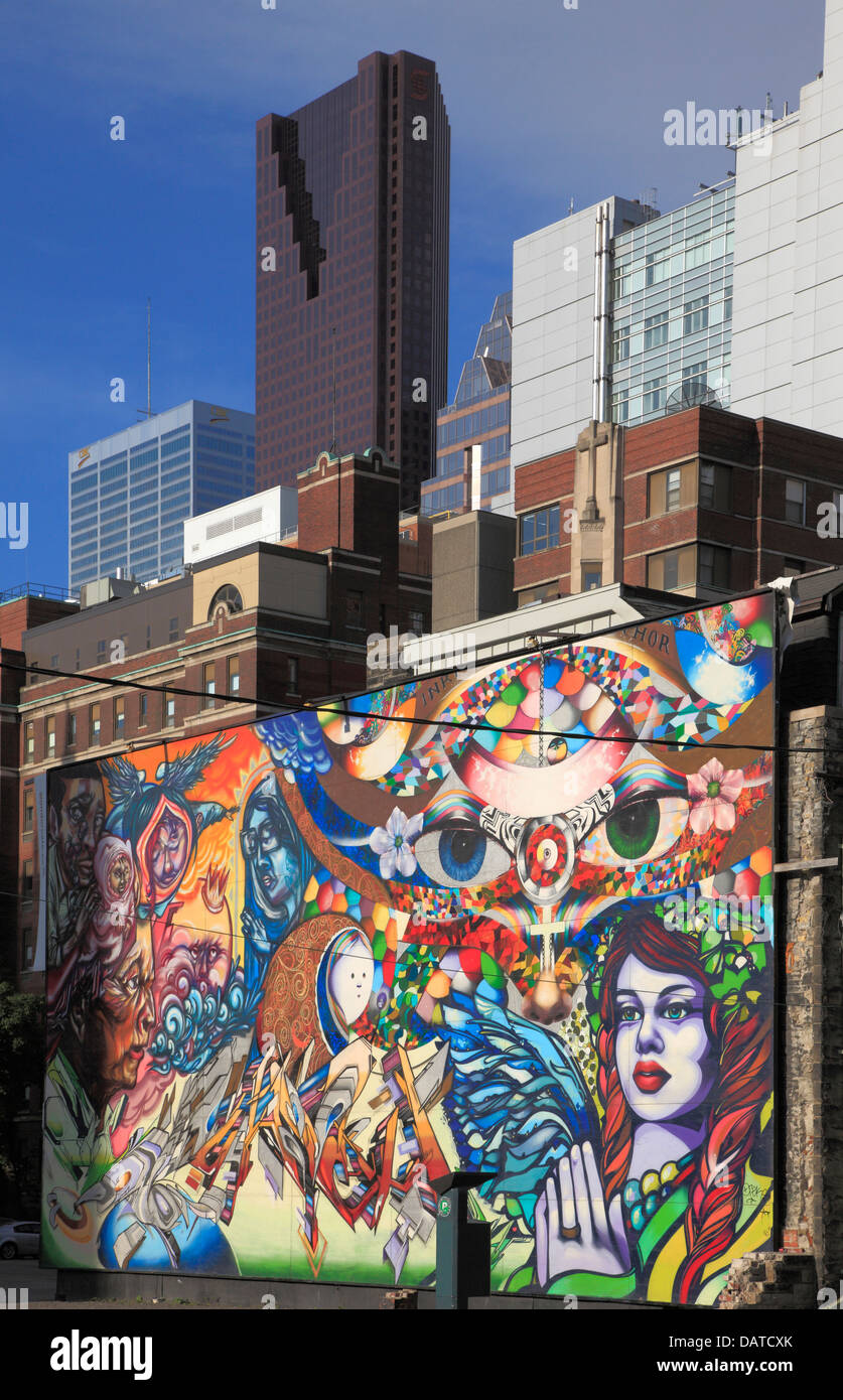 Graffiti wall toronto downtown - Canada Ontario Toronto Downtown Graffiti Wall Painting