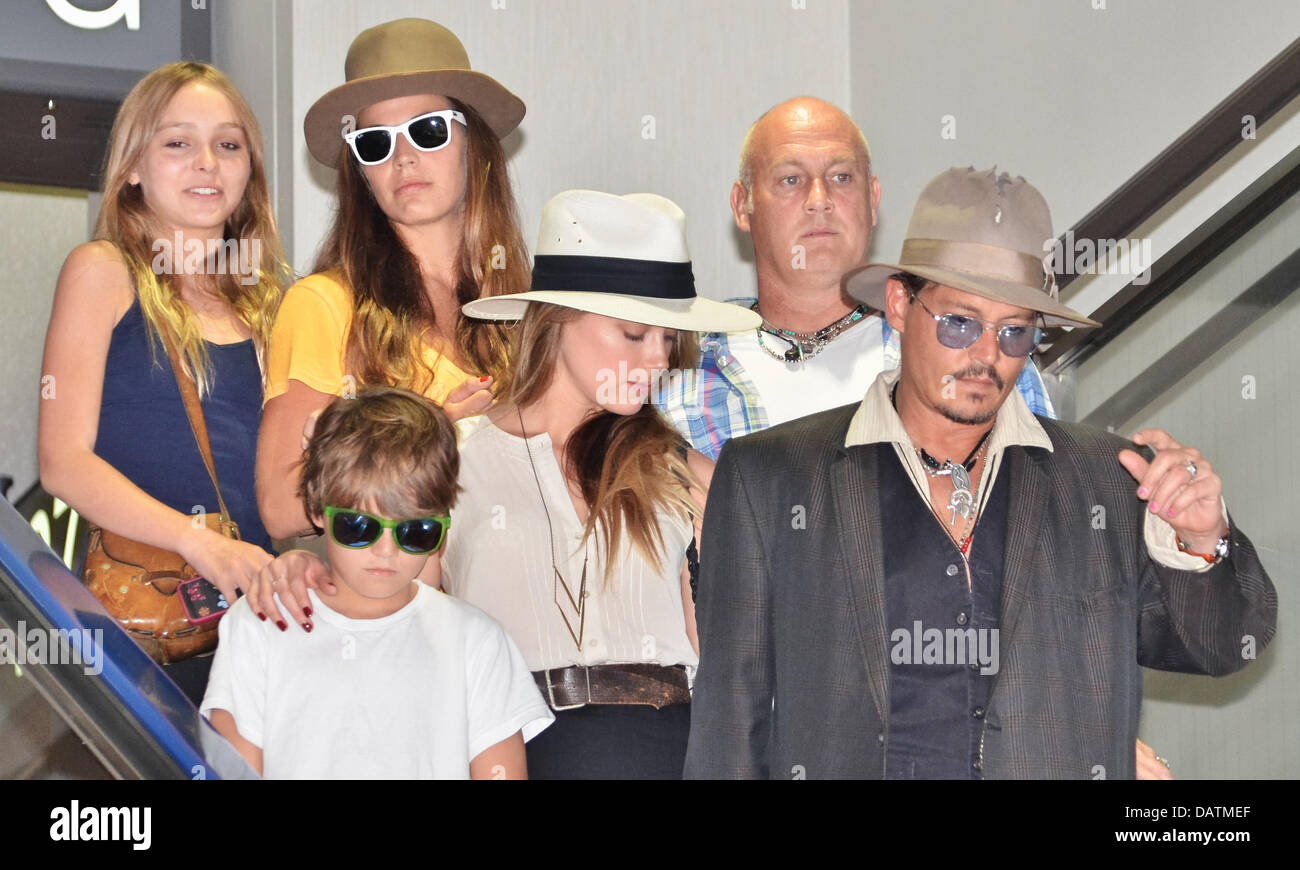 Tokyo, Japan. 18th July, 2013. Johnny Depp, Jack Depp ...