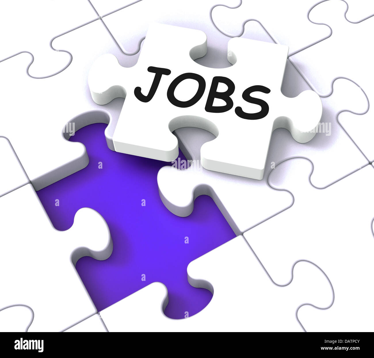 Jobs Puzzle Shows Vocational Guidance Stock Photo, Royalty Free ...