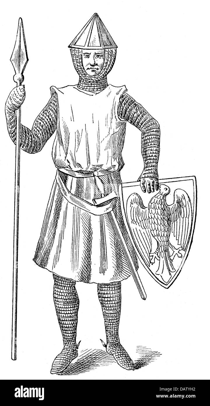 middle ages knights polish knight from the 13th century stock