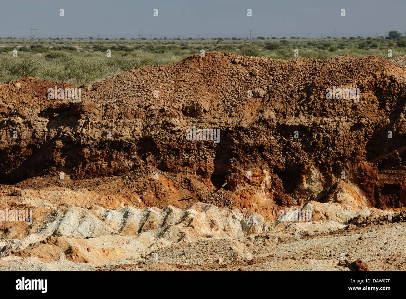 Excavation of top soil down to the layer of first deposit for Top layer of soil