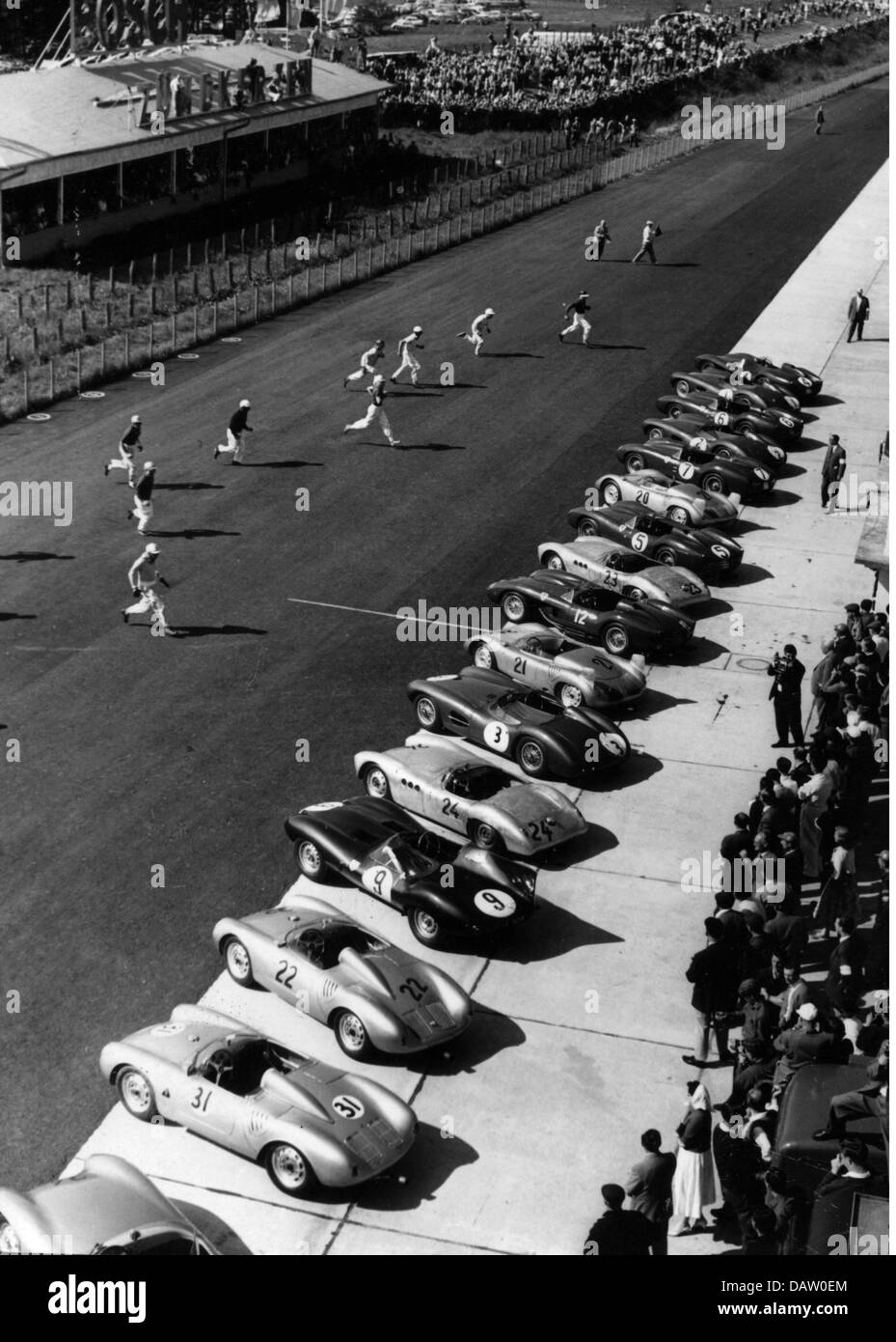 Sport, Car Racing, Nurburgring, Germany, Starting A Race, 1950s, Le