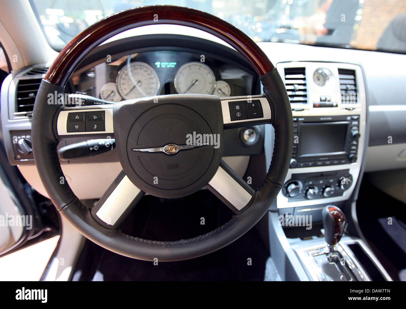 Worksheet. The interior of a Chrysler 300C 30 CRD Touring is pictured at the