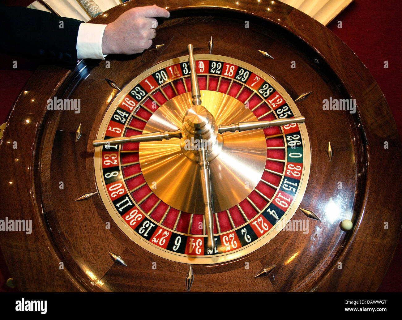Spinning roulette wheel at a casino casino hotel sandia
