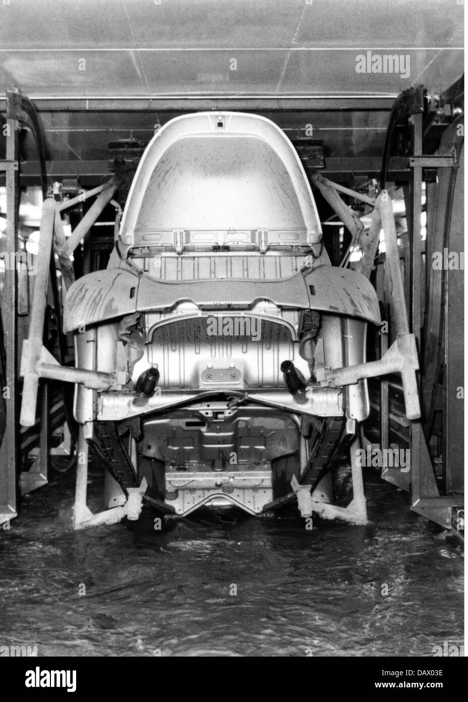Stock photo industry cars volkswagen works in wolfsburg west germany interior view dipping the body in first paint 1970s beetle