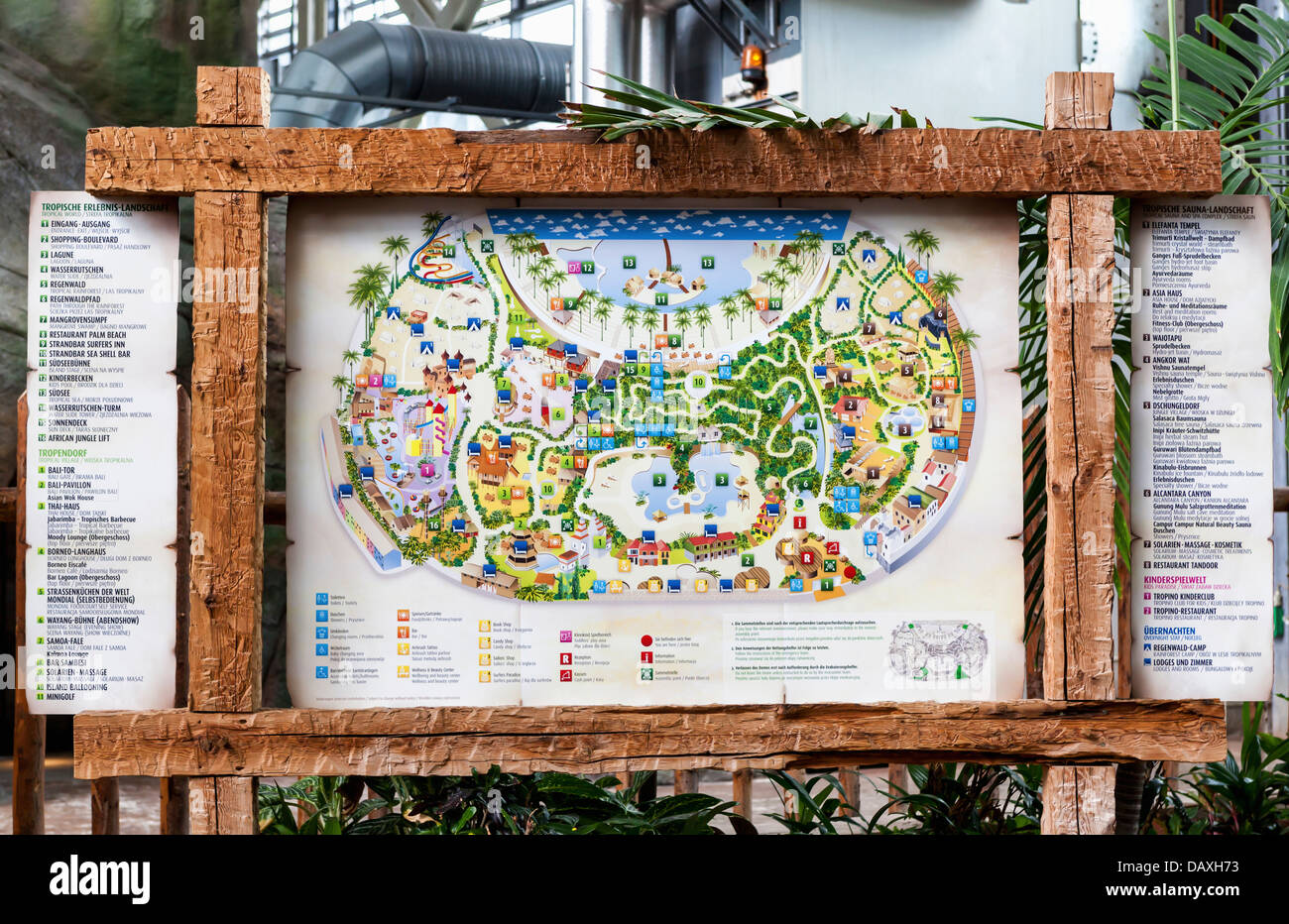 Map Of Tropical Islands Resort A Theme Park Located In