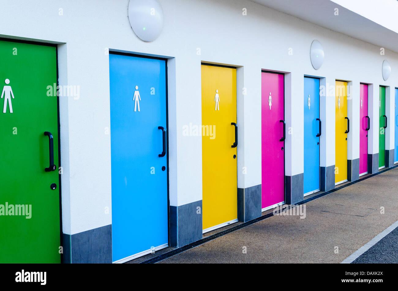 Public Bathroom Door Toilet Doors For Male And Female Genders Stock