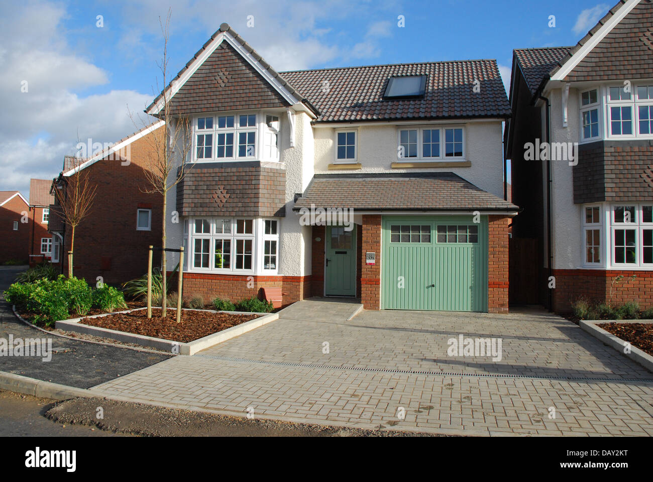Brand new build detached house built by redrow homes in for Home built house