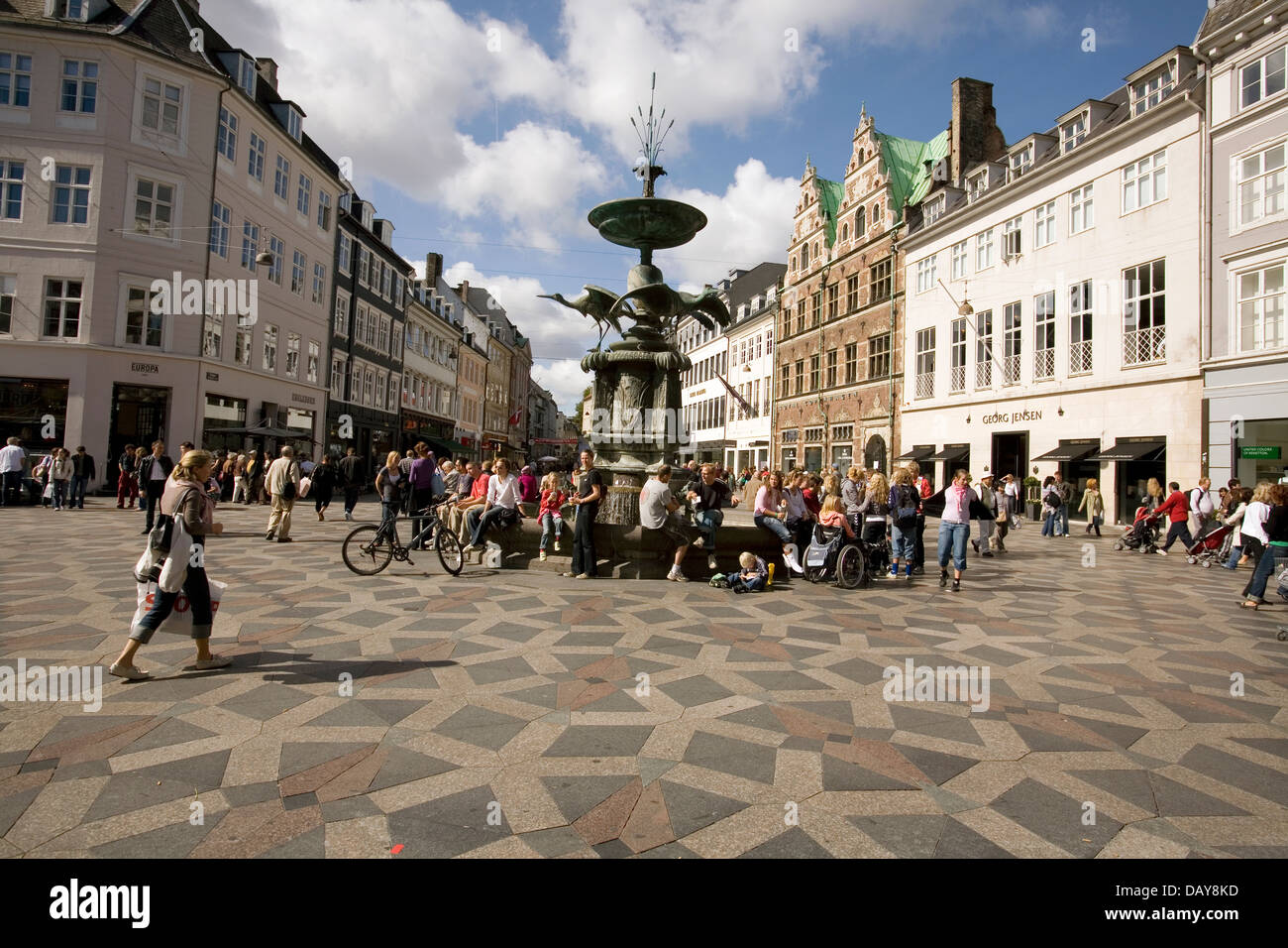 amagertorv is a busy square on the stroget copenhagen 39 s popular stock photo 58377185 alamy. Black Bedroom Furniture Sets. Home Design Ideas
