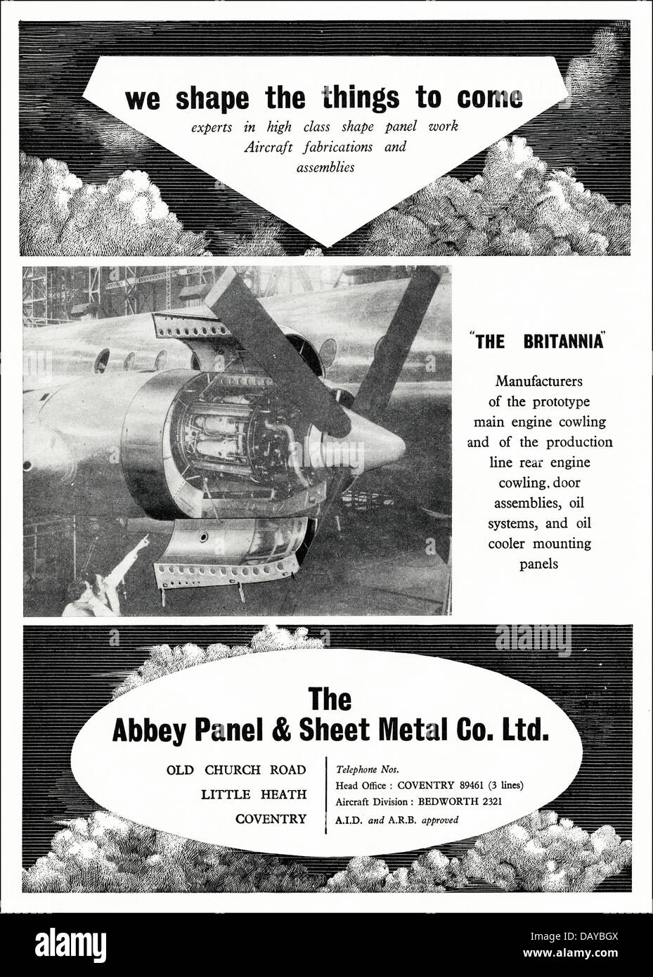 Advert For Aircraft Metal Panels By The Abbey Panel