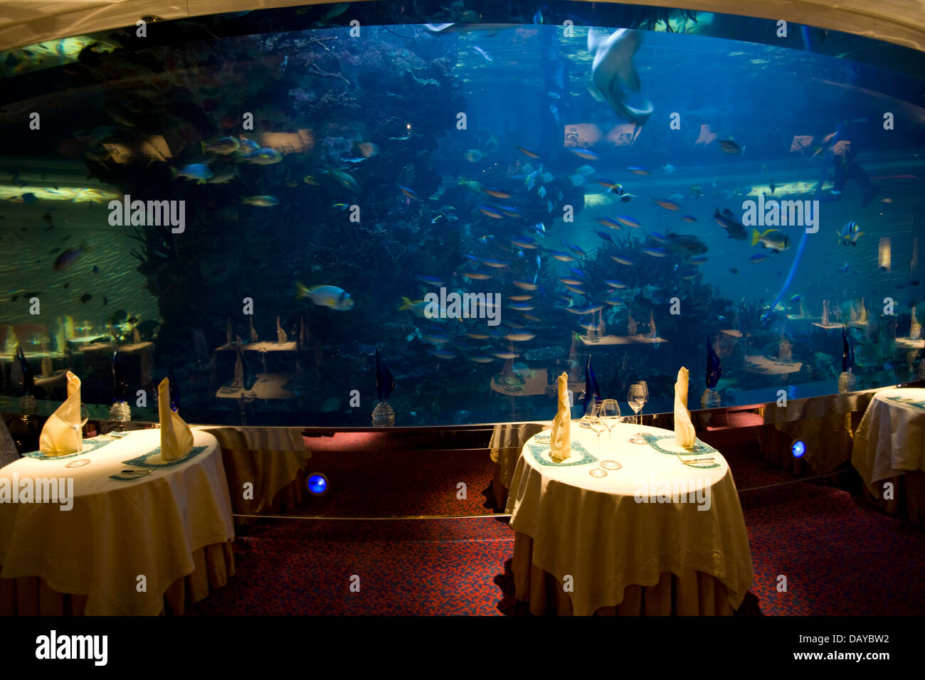 The Al Mahara Aquarium Restaurant Burj Al Arab Hotel