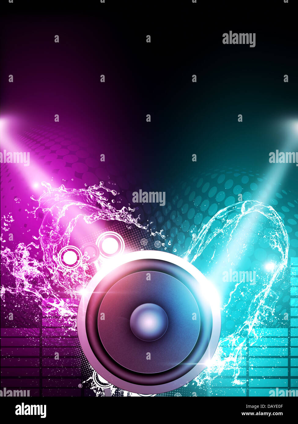 party music poster for flyers and night club posters stock photo royalty free image 58381359. Black Bedroom Furniture Sets. Home Design Ideas