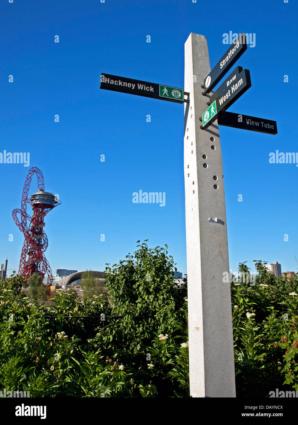 View of the arcelormittal orbit in the olympic park stratford view of the arcelormittal orbit in the olympic park stratford east london england united kingdom buycottarizona