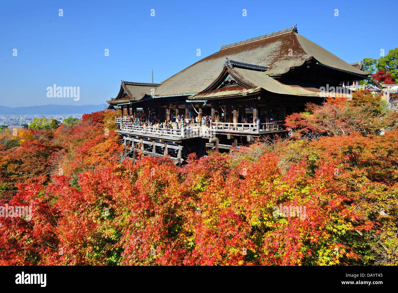 Kiyomizu-dera Temple in the autumn in Kyoto, Japan Stock Photo, Royalty Free ...