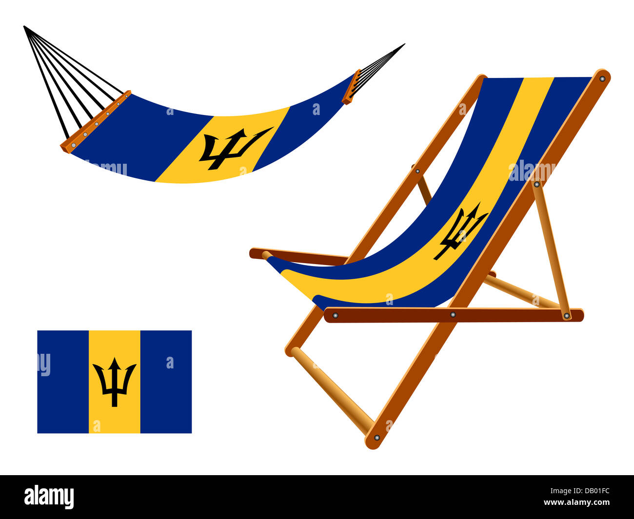 barbados hammock and deck chair set against white background abstract vector art illustration barbados hammock and deck chair set against white background stock      rh   alamy