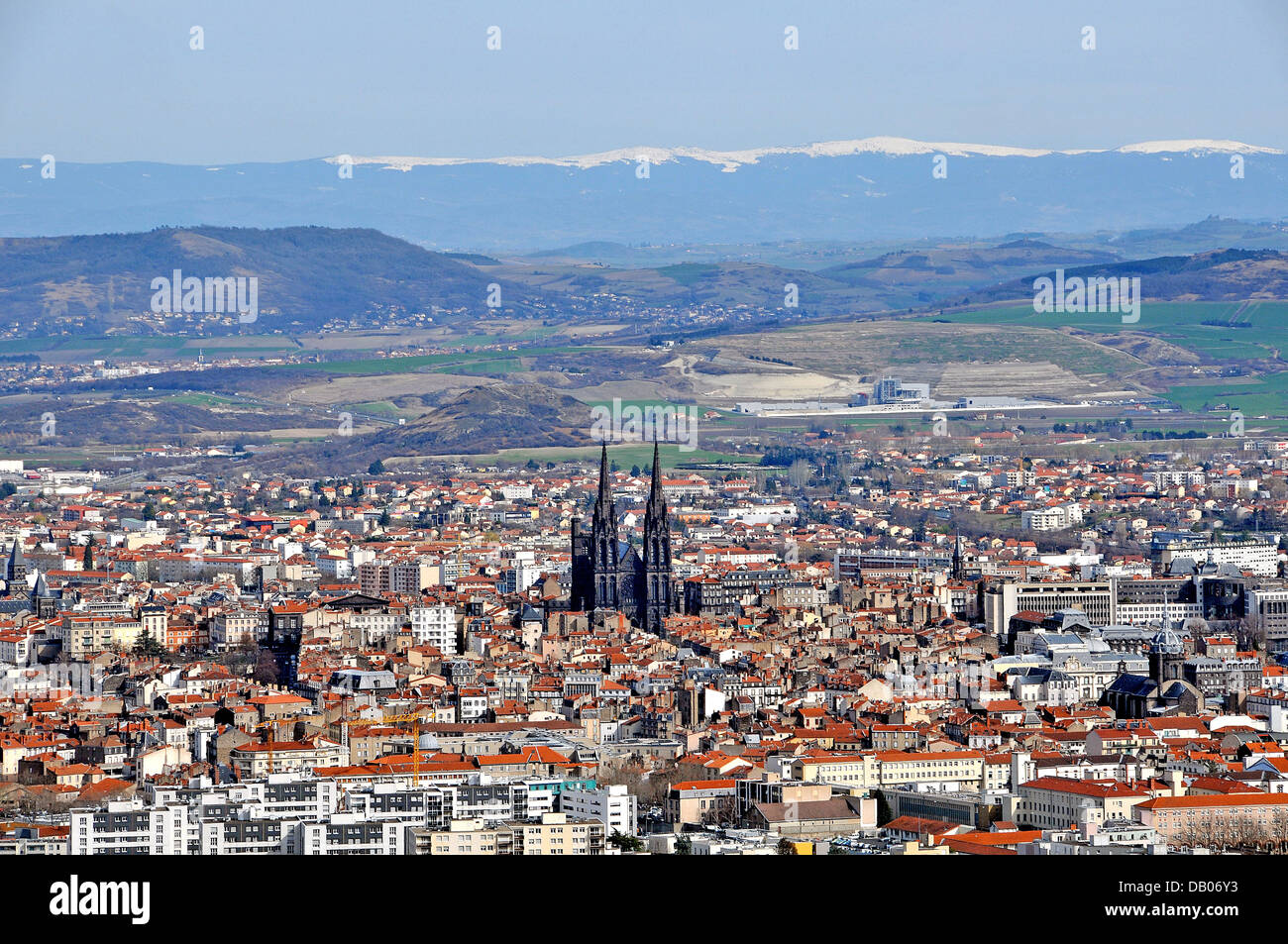 Aerial view of clermont ferrand puy de dome auvergne massif central stock photo royalty free - Massif jardin japonais clermont ferrand ...