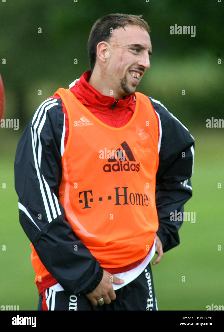 French Bayern Munich player Franck Ribery smiles during the
