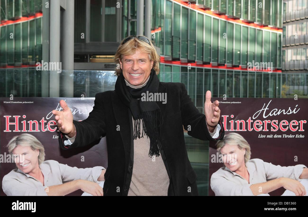 Hinterseer Berlin austrian folk hansi hinterseer poses at a press