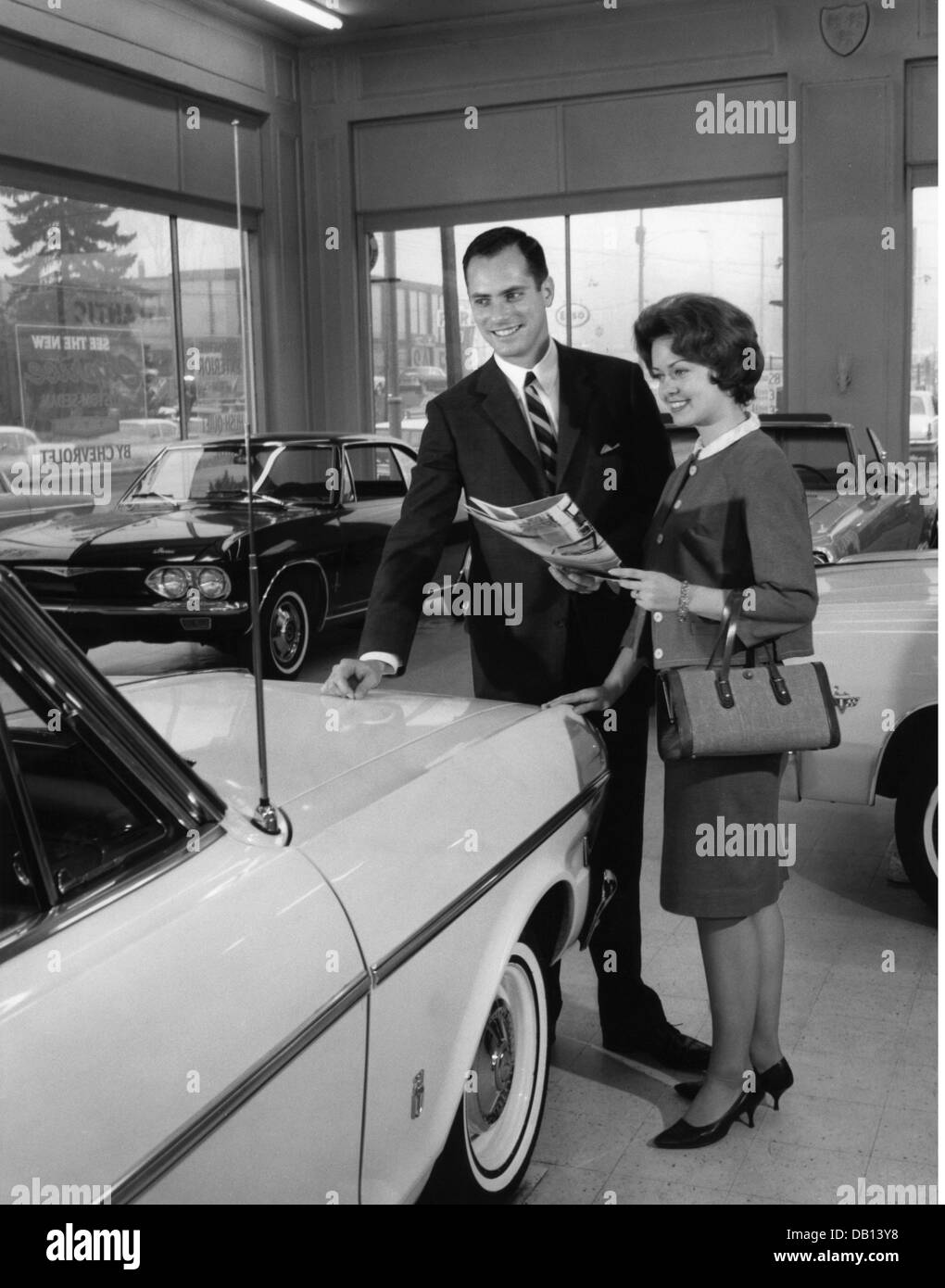 Trade Shops Young Couple At Car Dealer Usa 1960s 20th