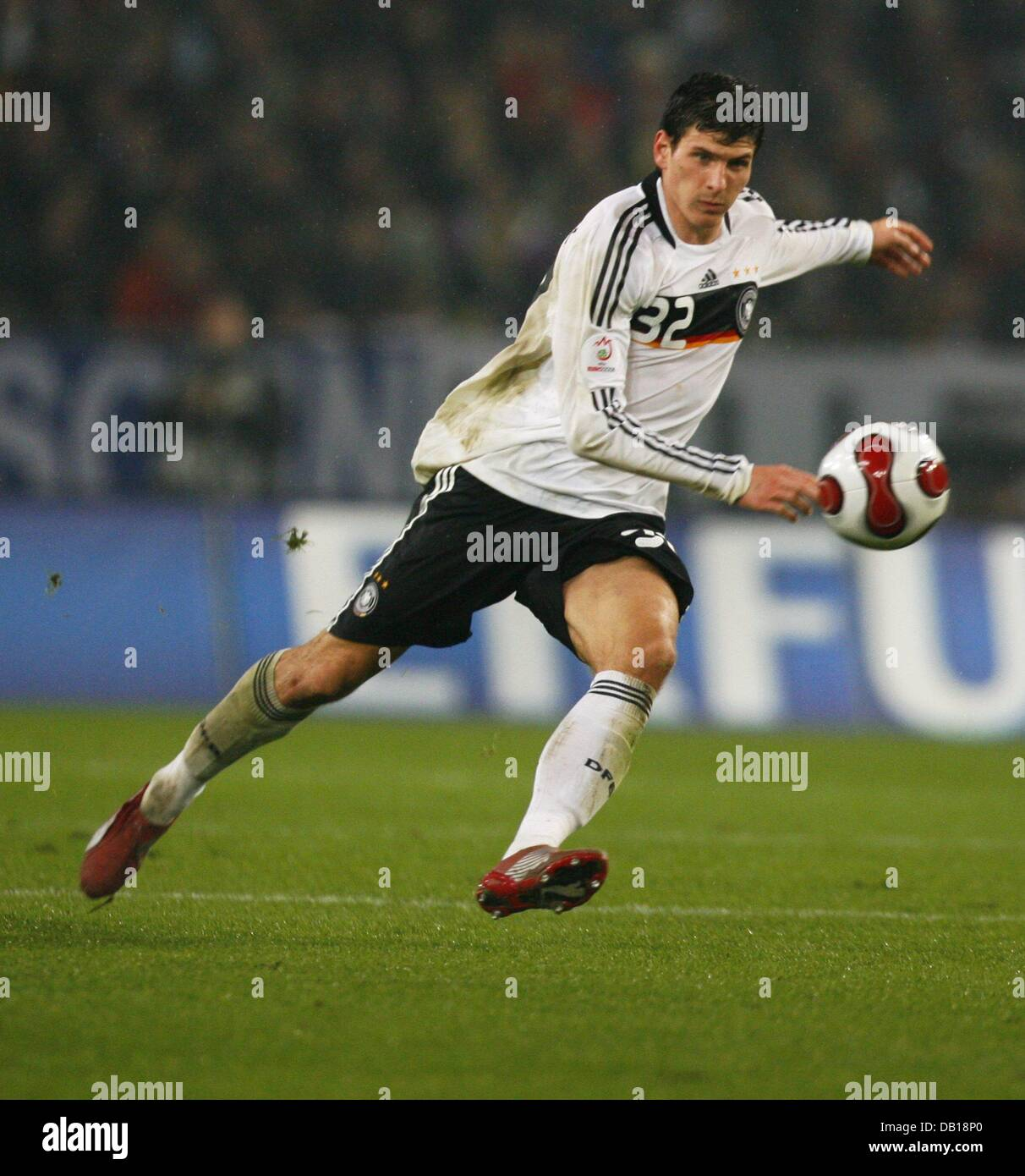 German international striker Mario Gomez is on the ball during the