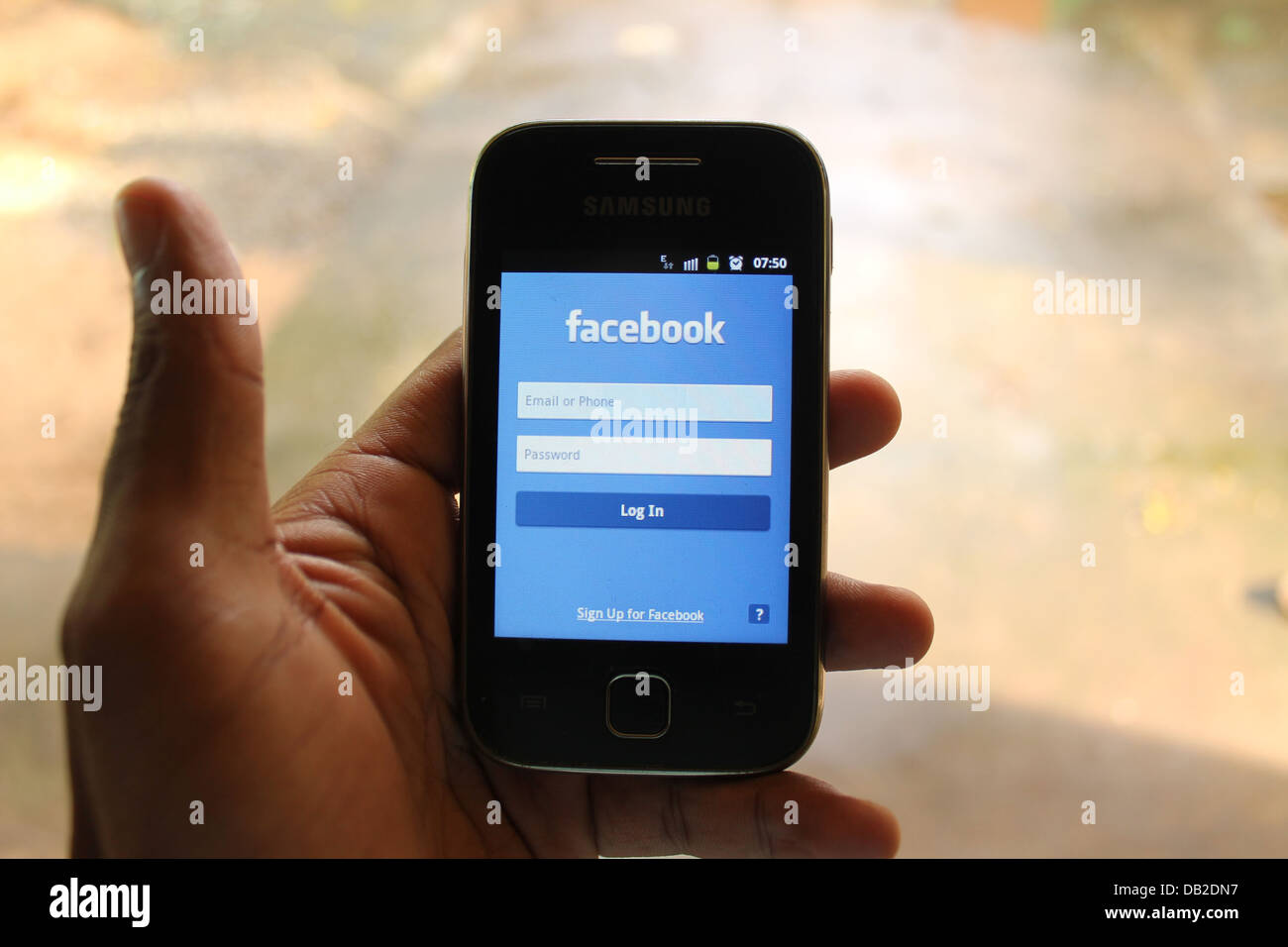 mobile facebook login