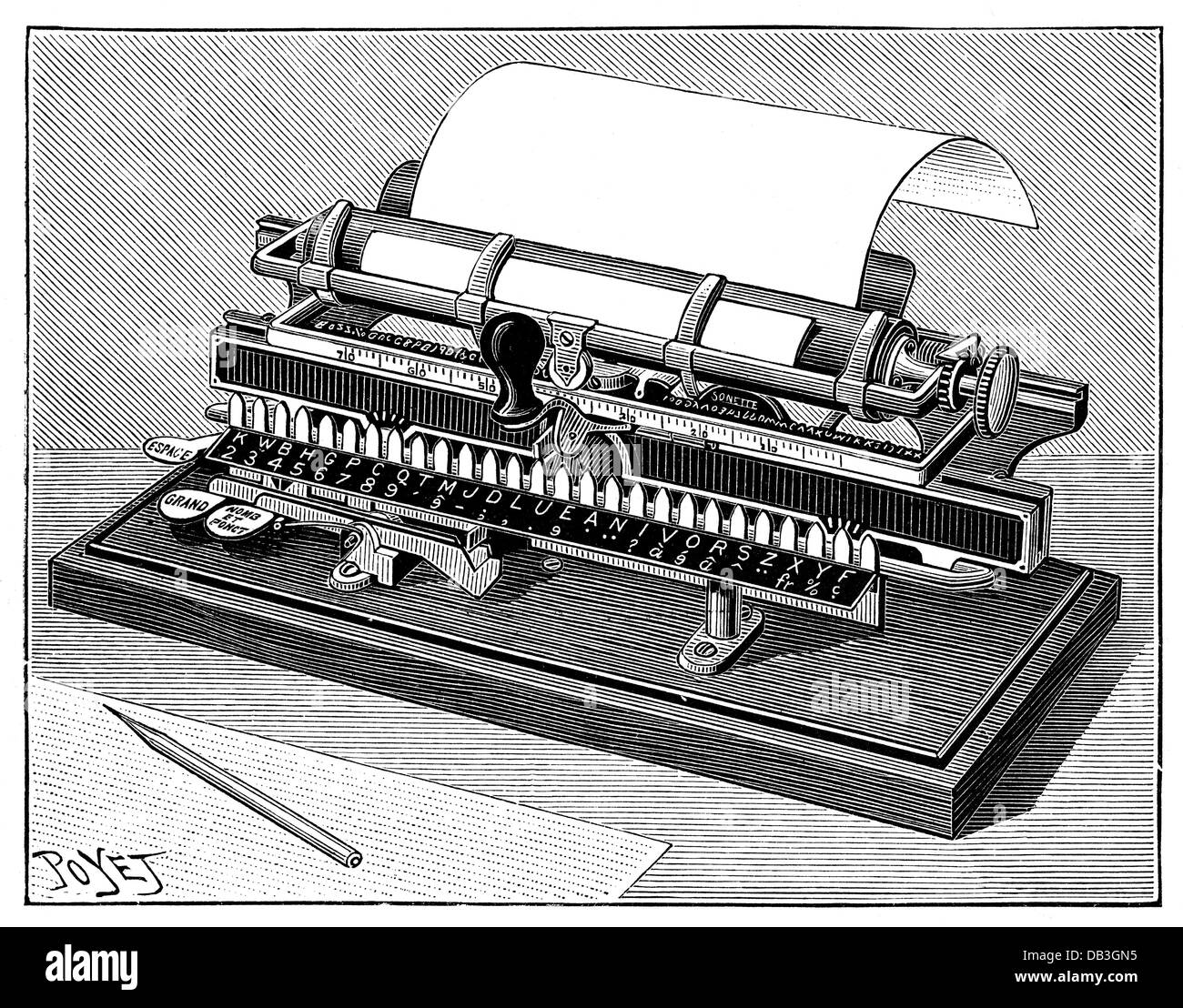office office equipment typewriters typewriter by Merritt 1891
