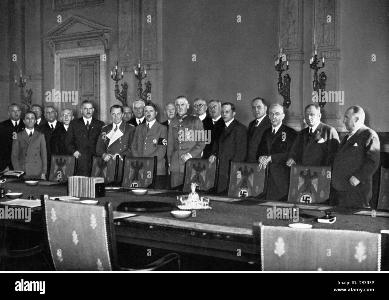 National Socialism, Politics, Reintroduction Of Conscription 16.3.1935,  Chancellor Adolf Hitler And His Cabinet, Chancellory, Be