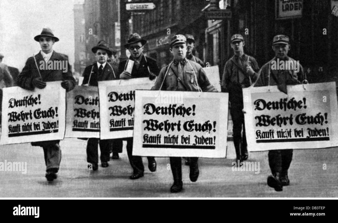 Nazism National Socialism crimes persecution of the Jews boycott ...