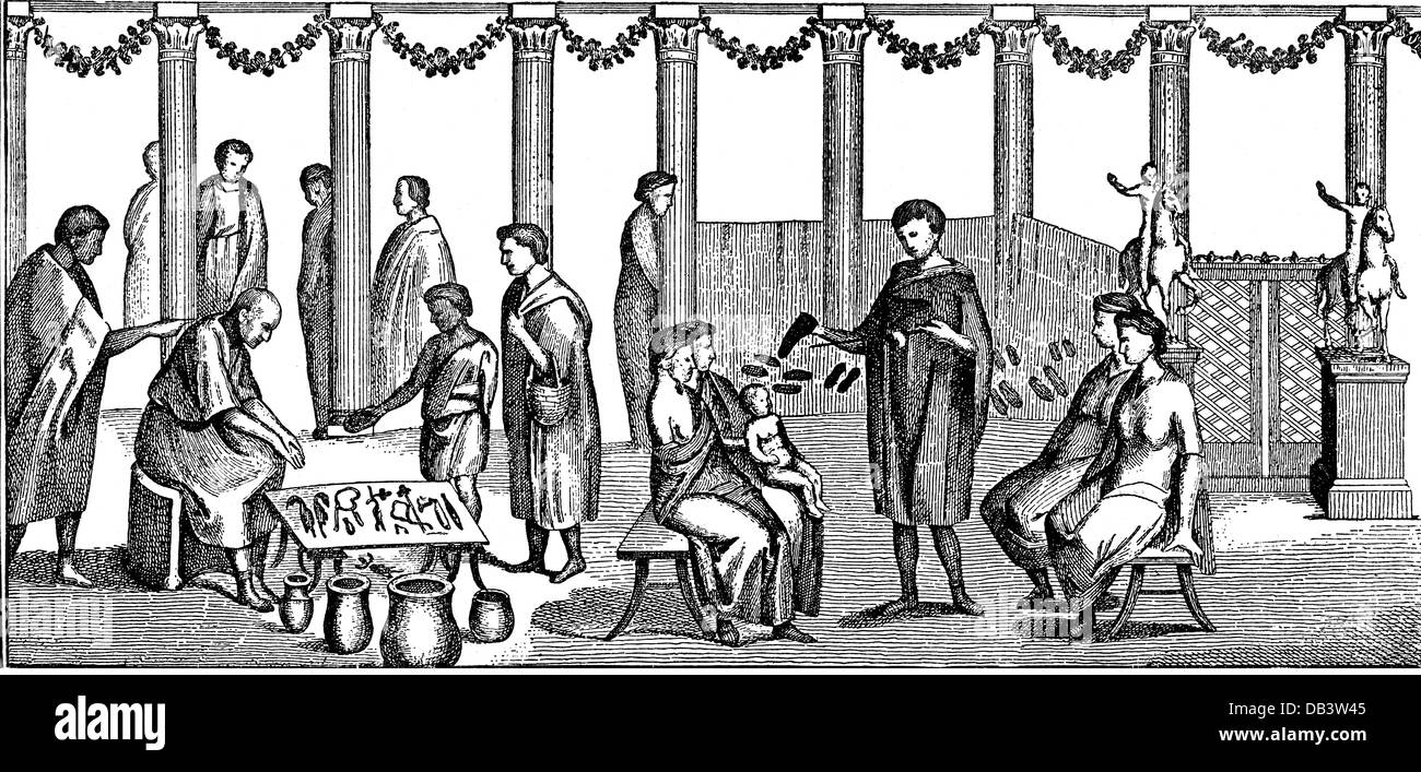 Uncategorized Trade In Kitchen Appliances trade merchants roman for kitchen appliances and shoes stock photo after ancient picture wood engraving 19th century a