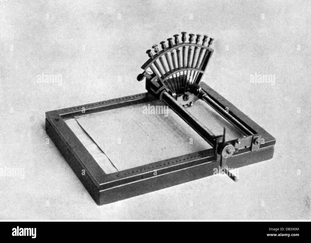 office office equipment typewriter Le Raphigraphe by Stock Photo