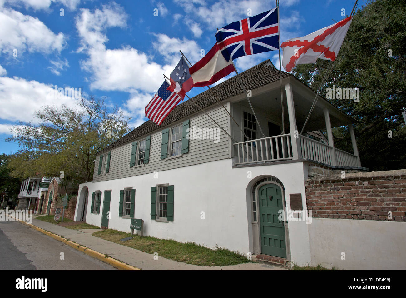 Oldest House Museum St Augustine Florida USA Stock Photo - Oldest museums in usa