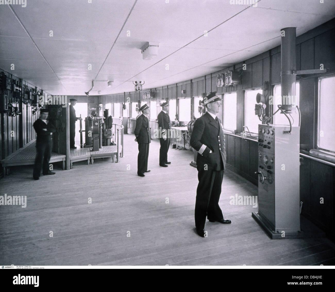 Transport Transportation Navigation Ship Interior Conning - 1930s cruise ships