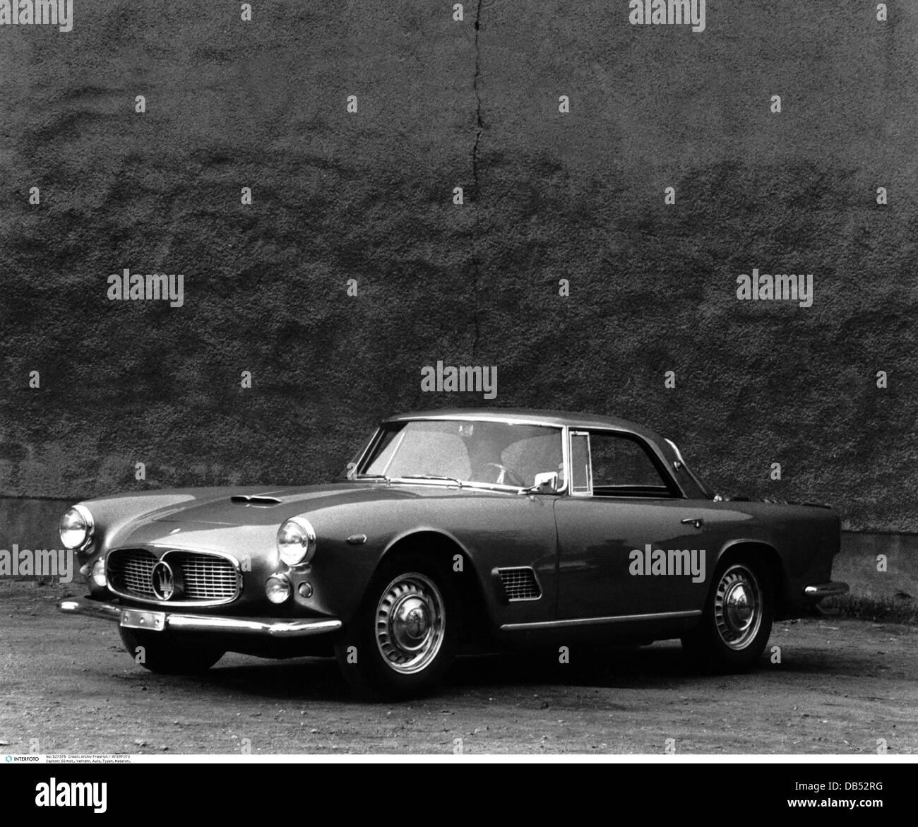 Transport Transportation Car Cars Vehicle Variants Maserati - Sports cars 50s