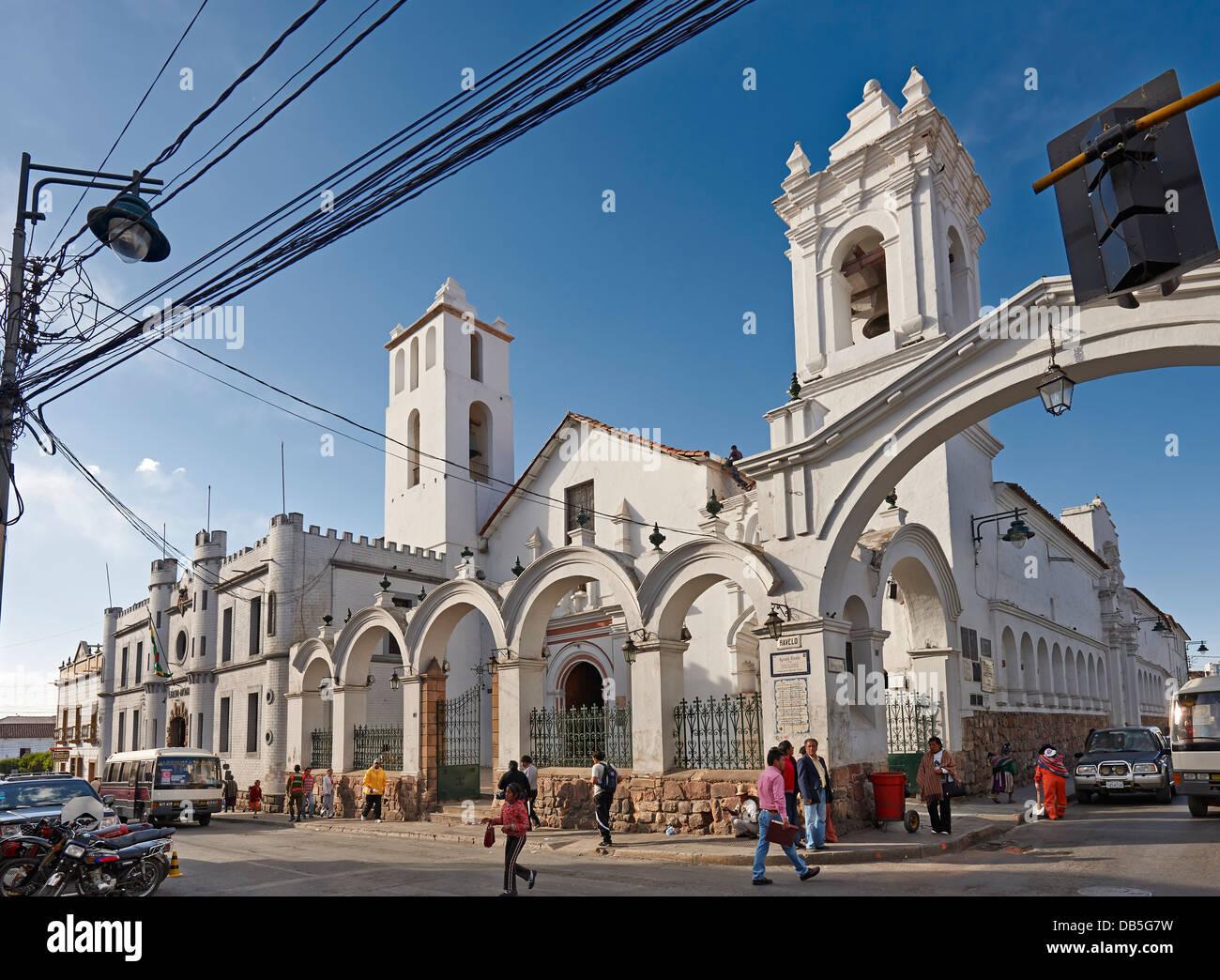 church of San Francisco, Calle San Alberto, colonial buildings ...