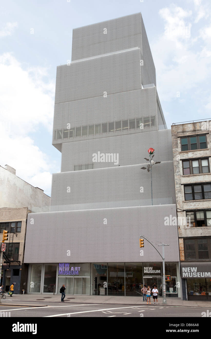 exterior of new museum of contemporary art in manhattan new york city stock photo royalty free. Black Bedroom Furniture Sets. Home Design Ideas