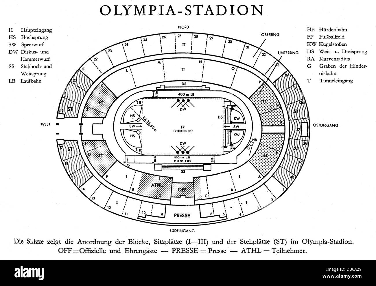 Geography Travel Germany Berlin Olympic Area Olympic Stadium - Germany map drawing